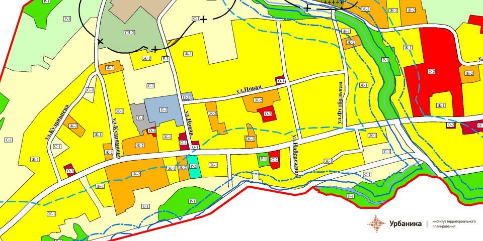 Градостроительное зонирование. Село Сарала (фрагмент)