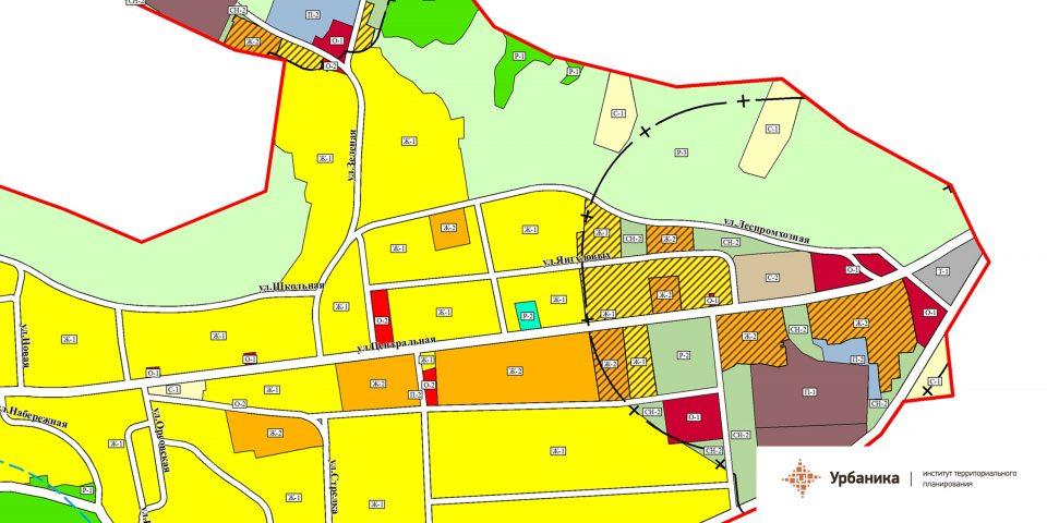 Градостроительное зонирование. Село Сарала (фрагмент2)