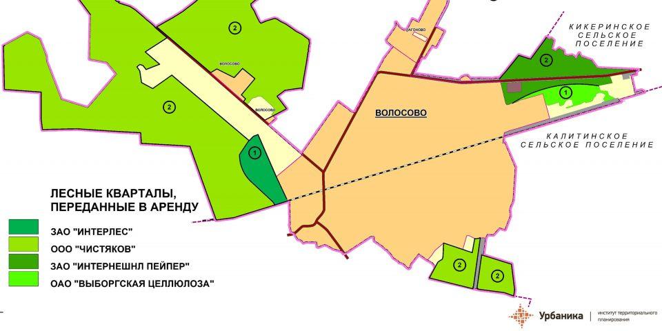 Схема лесных участков