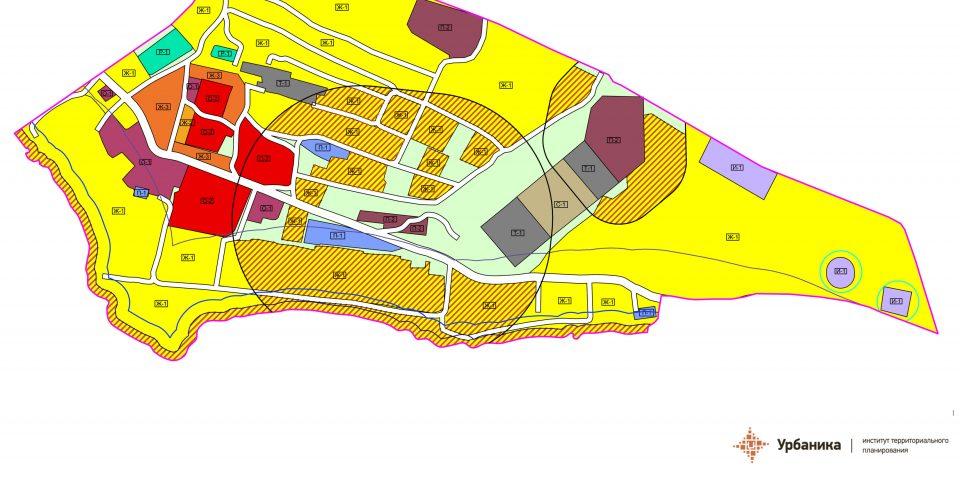 Градостроительное зонирование. Деревня Большой Сабск