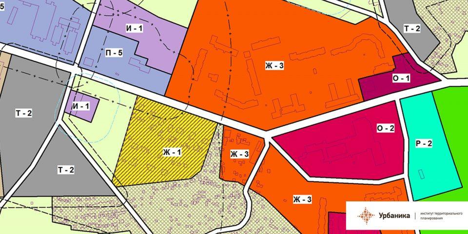 Градостроительное зонирование. Поселок Сельцо (фрагмент)