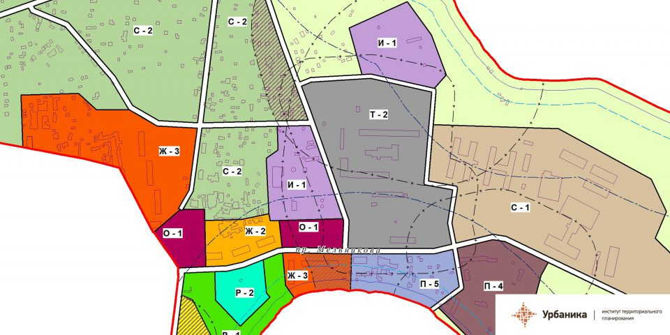 Градостроительное зонирование. Поселок Любань (фрагмент)