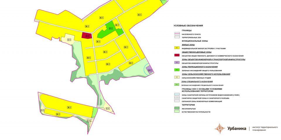Градостроительное зонирование. Деревня Арбонье