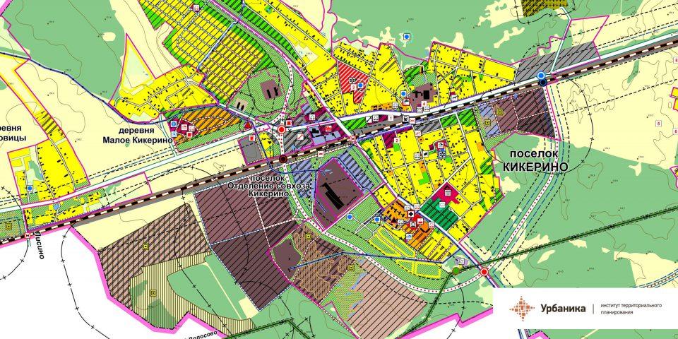 Проектный план. Поселок Кикерино