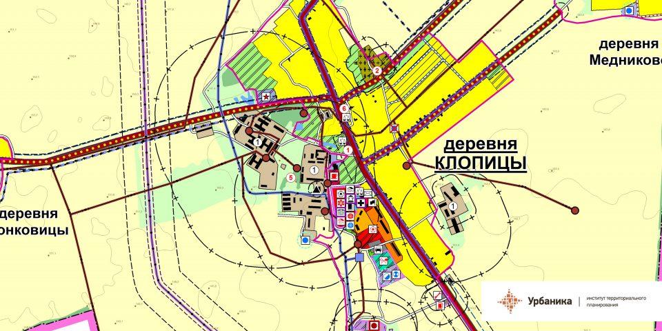 Проектный план. Деревня Клопицы