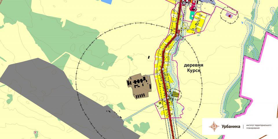 Эскиз планирования территории. Деревня Курск