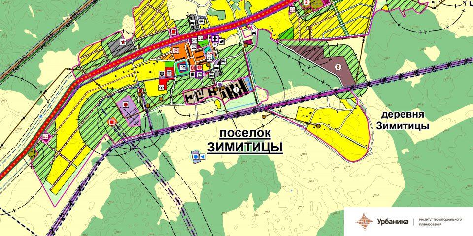 Проектный план. Поселок Зимитицы