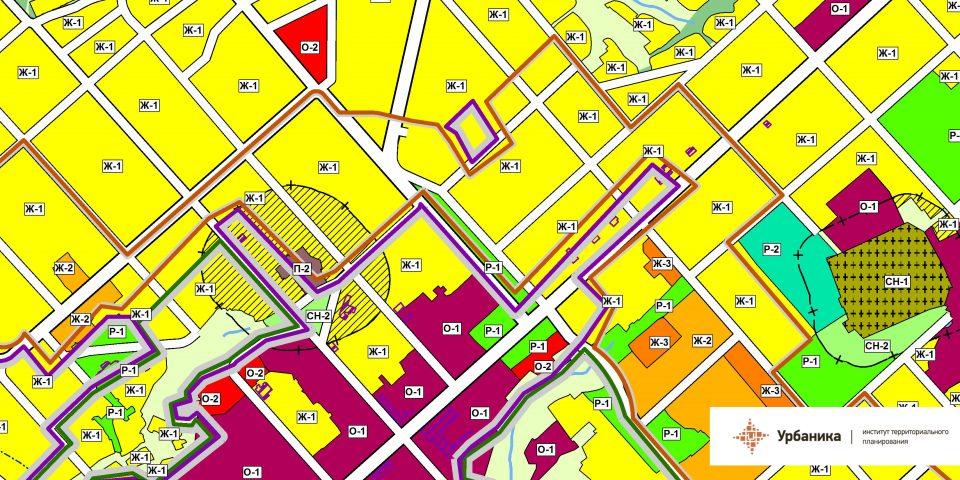 Градостроительное зонирование. Город Касимов (центральная часть)