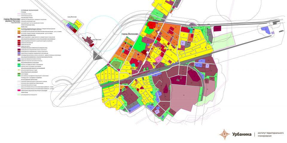 Градостроительное зонирование. Волосовское городское поселение