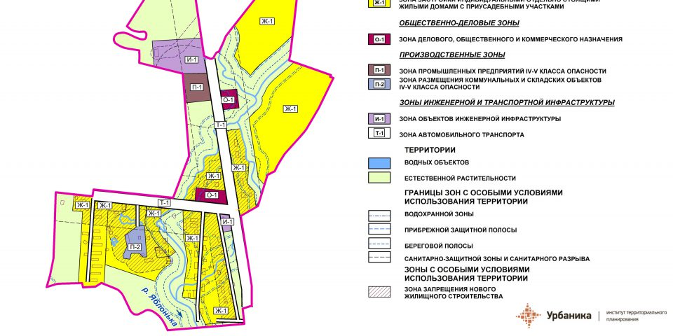 Градостроительное зонирование. Поселок Красный Луч