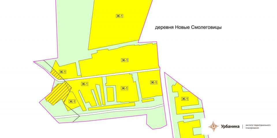 Градостроительное зонирование. Деревня Новые Смолеговицы