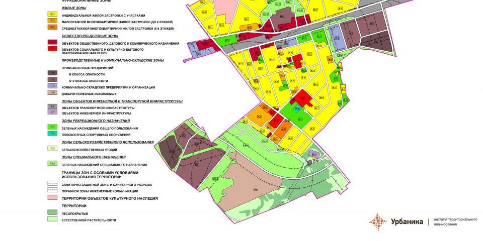 Градостроительное зонирование. Поселок Кикерино