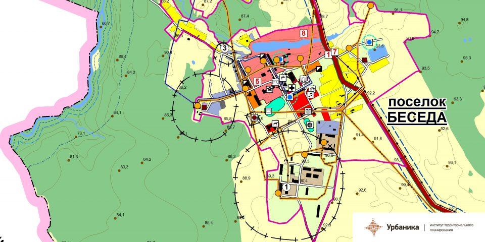 Современное использование территории. Поселок Беседа