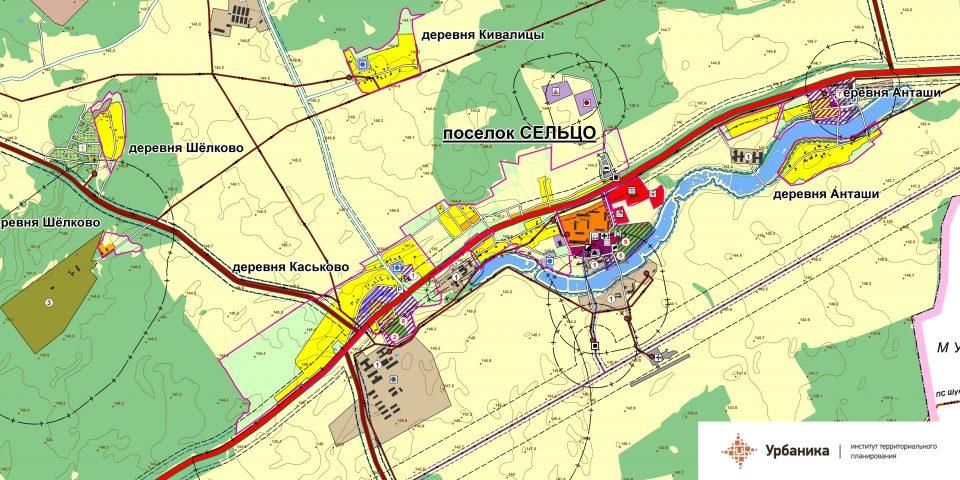 Современное использование территории.Поселок Сельцо