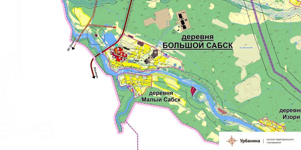 Эскиз вариантов территориального планирования. Деревня Большой Сабск