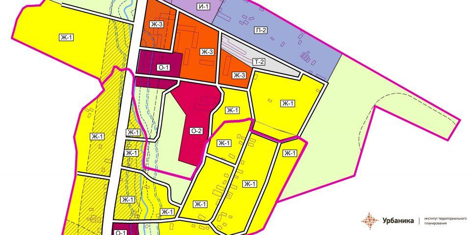 Градостроительное зонирование. Поселок Курск