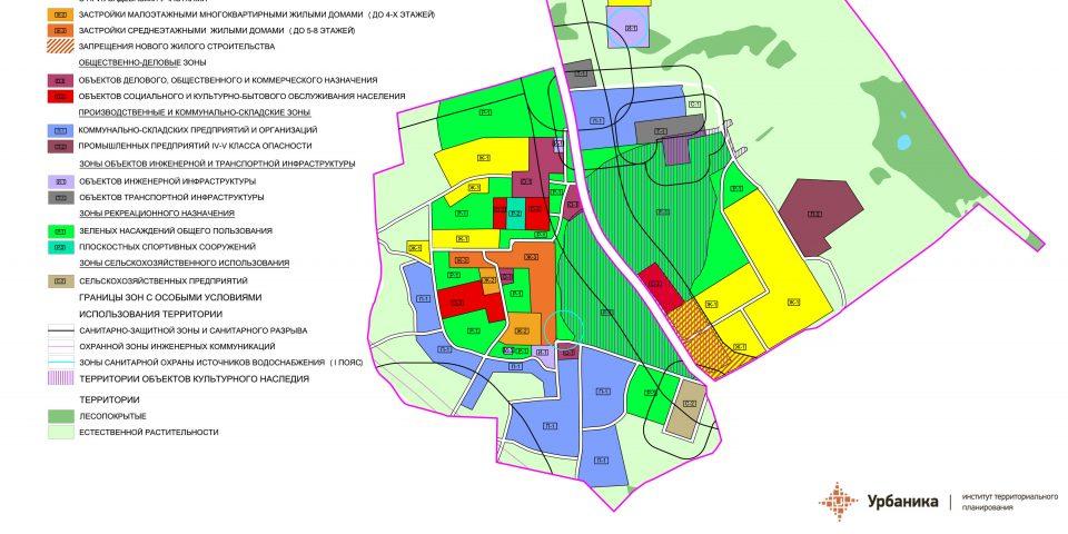 Градостроительное зонирование. Деревня Терпилицы