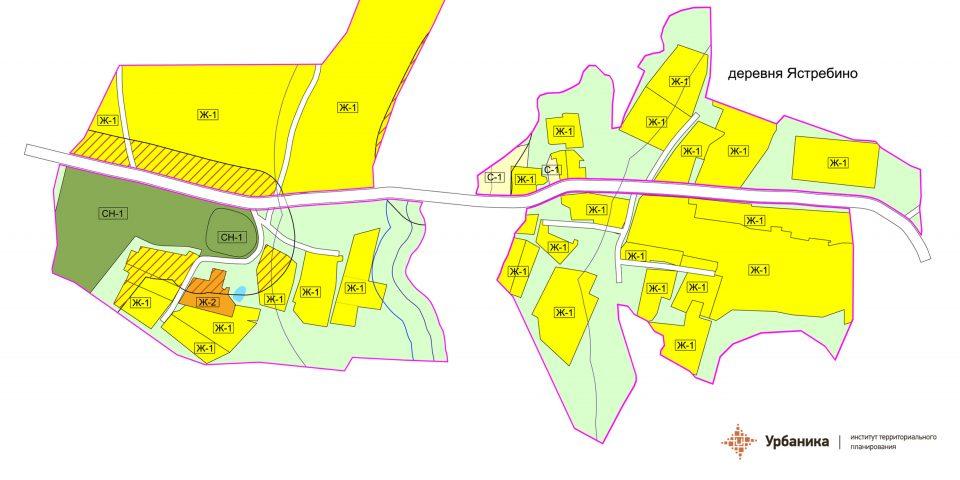 Градостроительное зонирование. Деревня Ястребинино