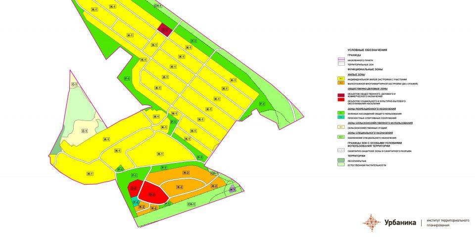 Градостроительное зонирование. Деревня Малое Кикерино