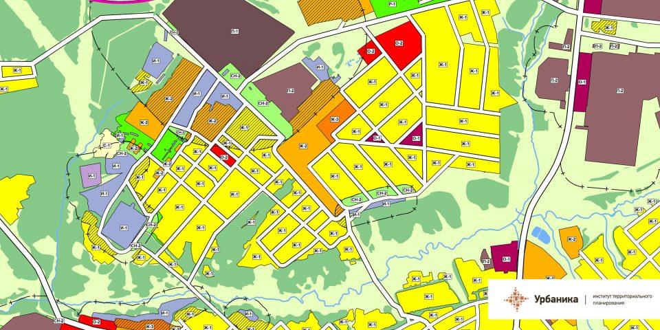 Градостроительное зонирование. Город Касимов (северо-западная часть)