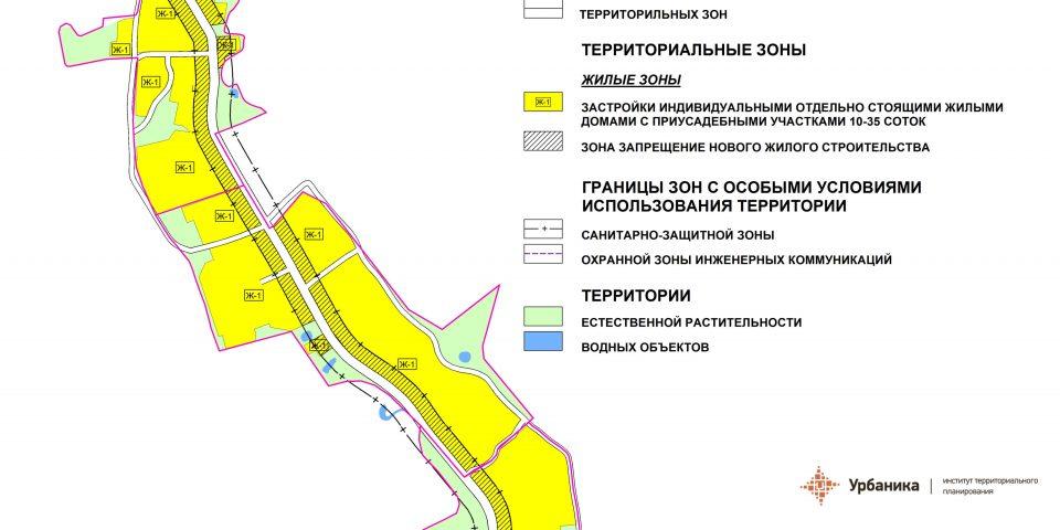 Градостроительное зонирование. Деревня Рутелицы