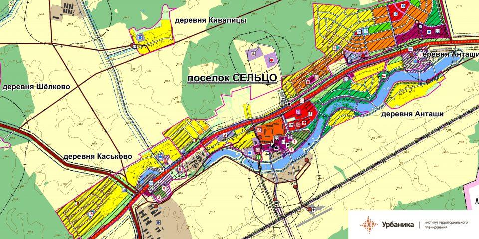 Проектный план. Поселок Сельцо