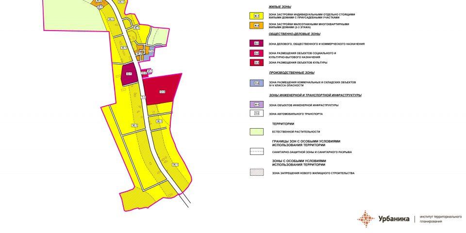 Градостроительное зонирование. Поселок Остроговицы