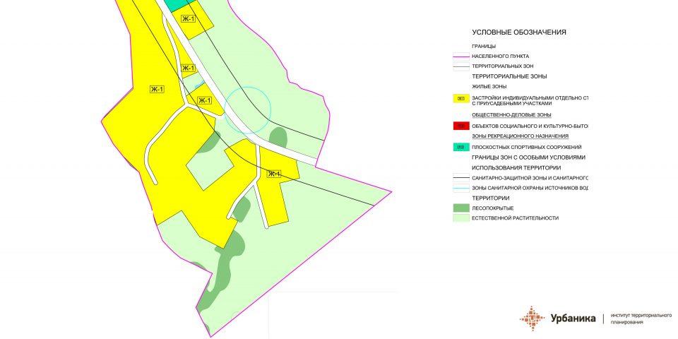 Градостроительное зонирование. Деревня Худанки