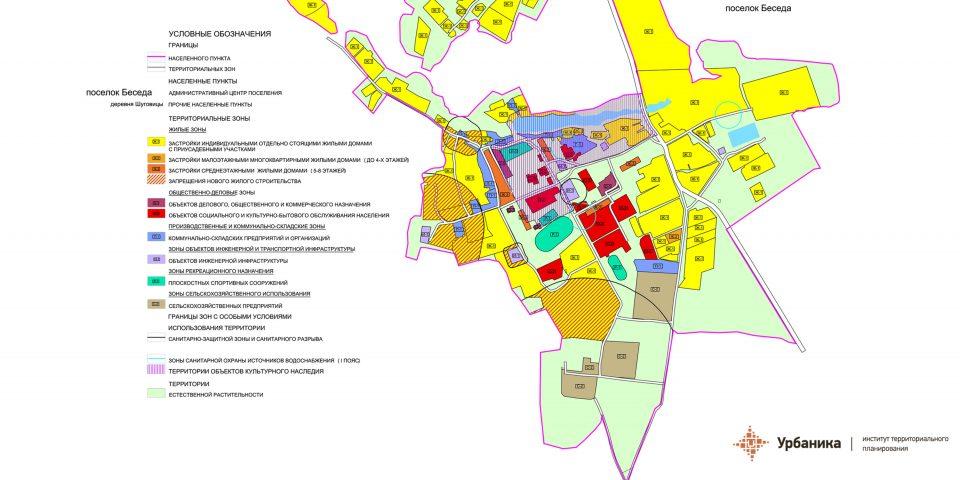 Градостроительное зонирование. Поселок Беседа