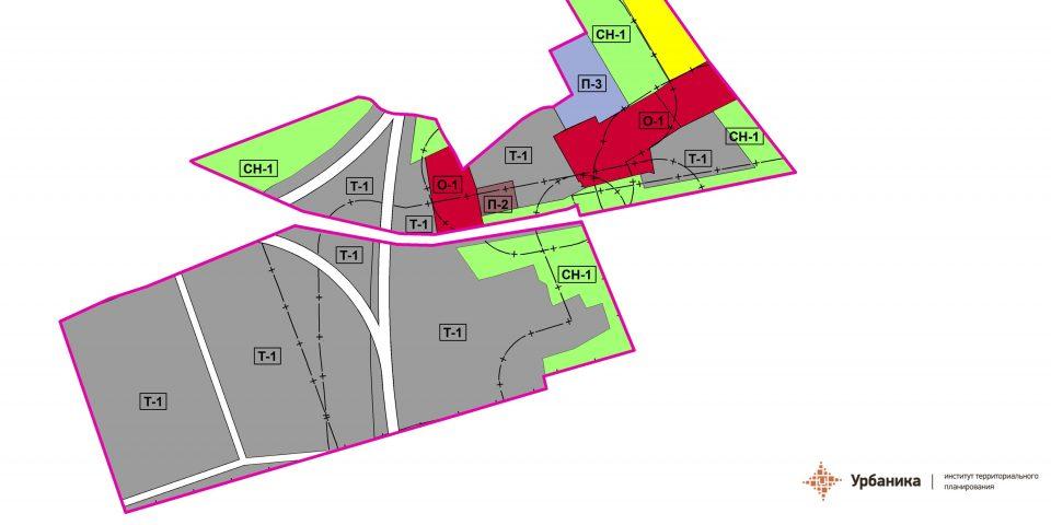Градостроительное зонирование. Отделение совхоза Кикерино