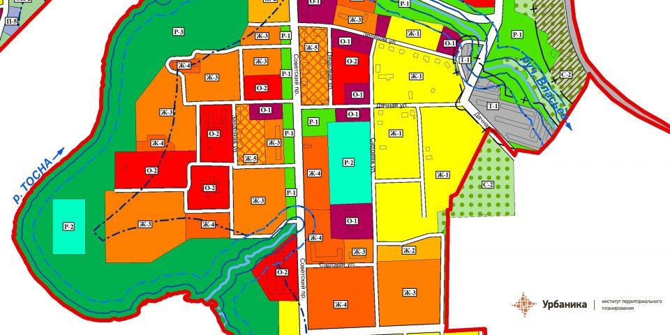 Градостроительное зонирование. Город Никольское (фрагмент 1)