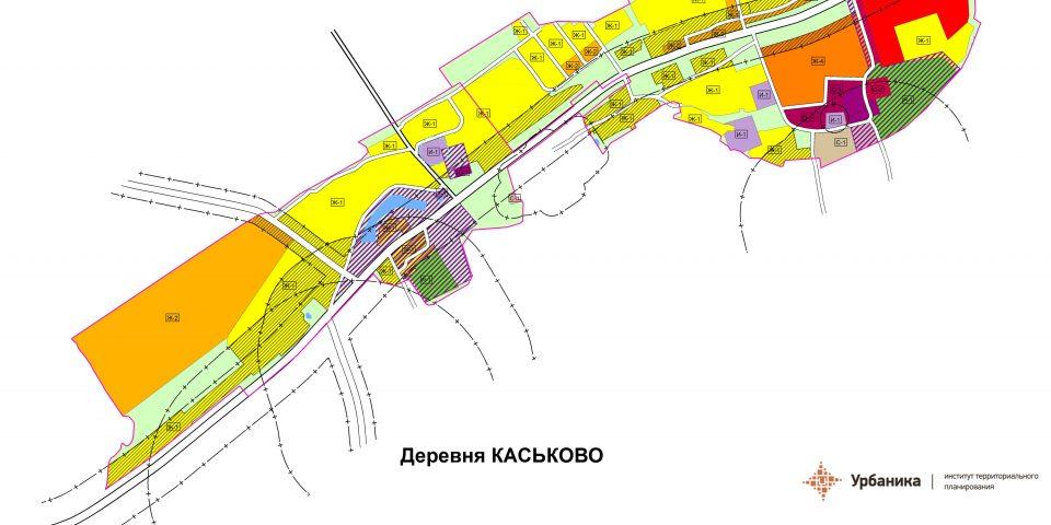 Градостроительное зонирование. Поселок Сельцо и деревня Каськово