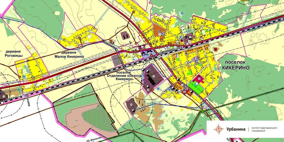 Современное использование территории. Поселок Кикерино