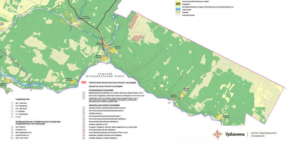 Современное использование территории. Восточная часть поселения