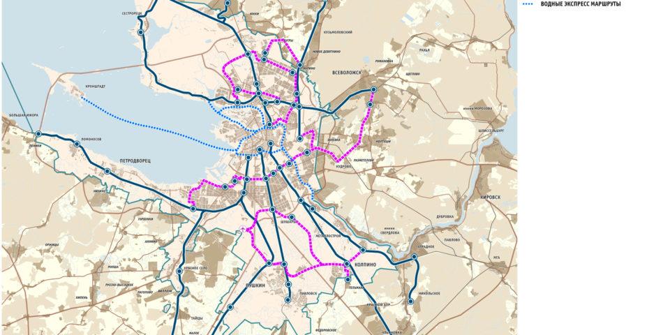 Схема развития общественного транспорта Большого Петербурга