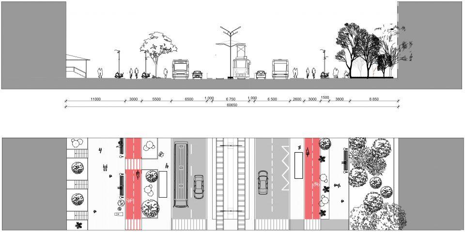 Профиль улицы Кравченко