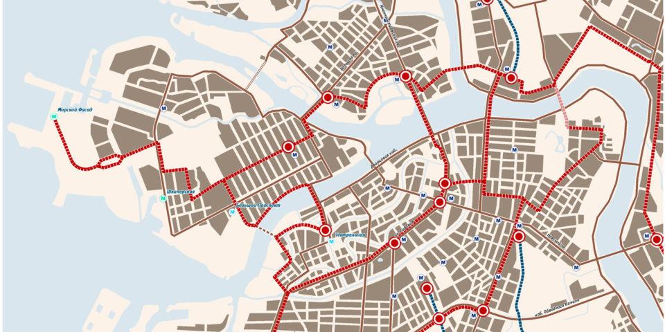 Развитие общественного транспорта в центре города