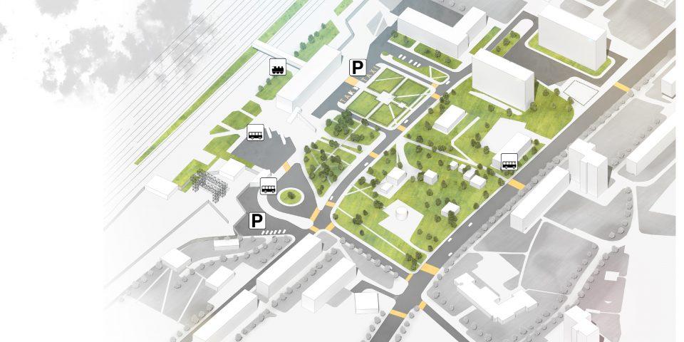 Вокзальная площадь. 1й этап развития