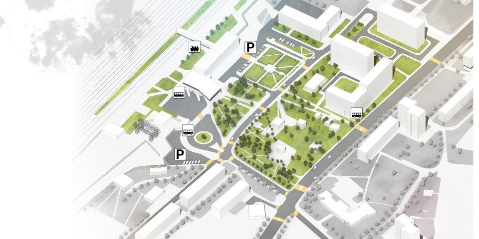 Вокзальная площадь. 2й этап развития