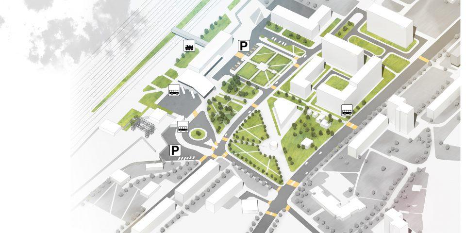 Вокзальная площадь. 3й этап развития