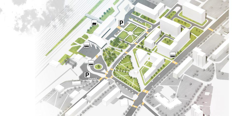 Вокзальная площадь. 4й этап развития