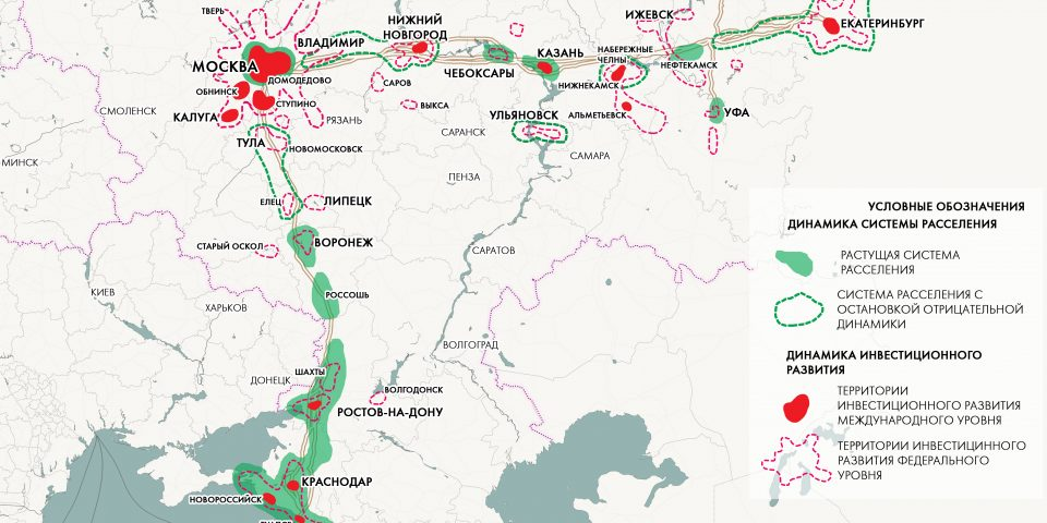 Прогноз развития системы раселения и пространственной структуры экономики в зоне влияния ВСМ