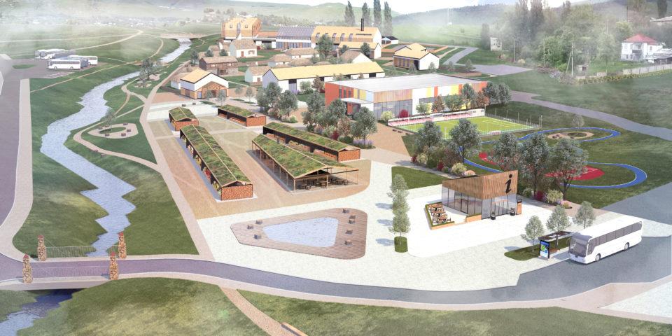 Визуализация центральной зоны курорта Гумлокт (село Красный Восток)