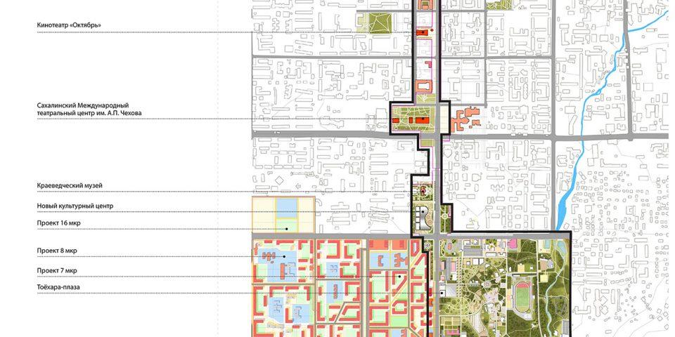 Мастер-план общественного пространства главной оси города