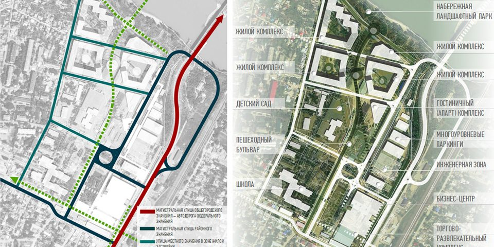 Транспортная инфраструктура и функциональное зонирование