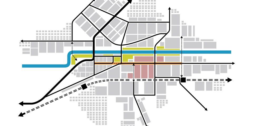 Условная схема города